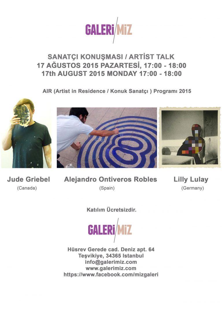 Artist in Residence 2015 – Artist Talk