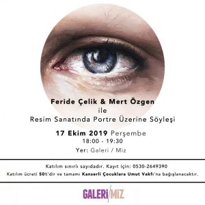 "Artist Talk: ""About The Portraits in Painting Art"" with Young Artist Mert Özgen and Art Consultant Feride Çelik"